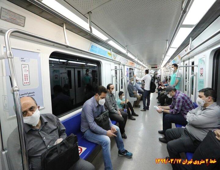 بازگشایی بازارها سبب افزایش آمار مسافران مترو شده است
